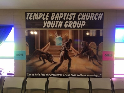 image of teen youth group banner